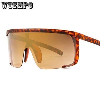 fc7b2f03d1 Marco grande Semi montura gafas de sol enormes mujeres al aire libre de moda  lujo protección