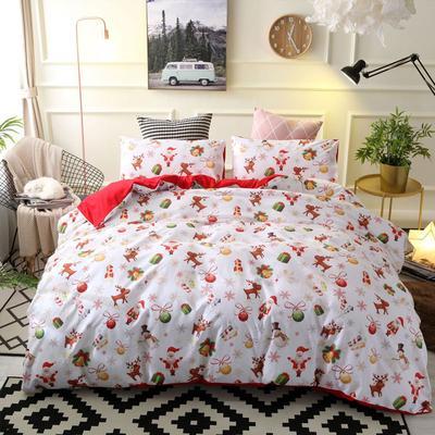 Різдво поліестер Утішитель постільної білизни встановлений ковдру ковдру  кришку наволочку ліжко набір 4a55bc77c6b39