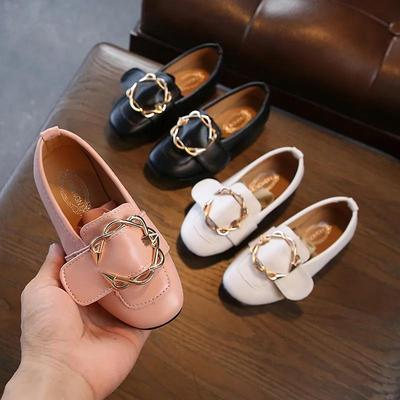 Girl's Spring and Summer Shoes Soft Sole Princess Light Leather Shoes Anti-slip Solid Color Single Shoes