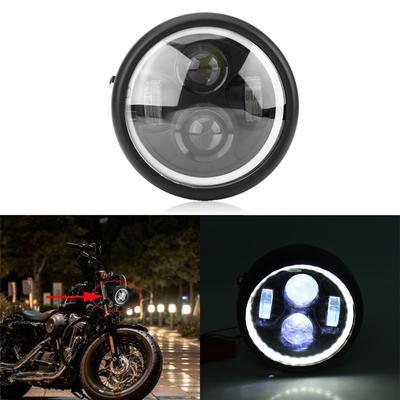 "6.8/"" Chrome Motorcycle Amber Hi//Lo Beam Headlight fit Harley Custom Bobber Honda"