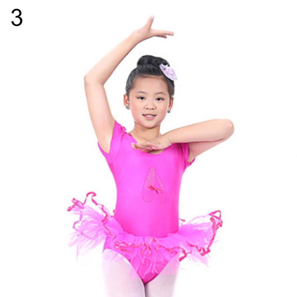 Niño lindo bebé niñas manga corta Tutu Vestido de Ballet baile traje ...