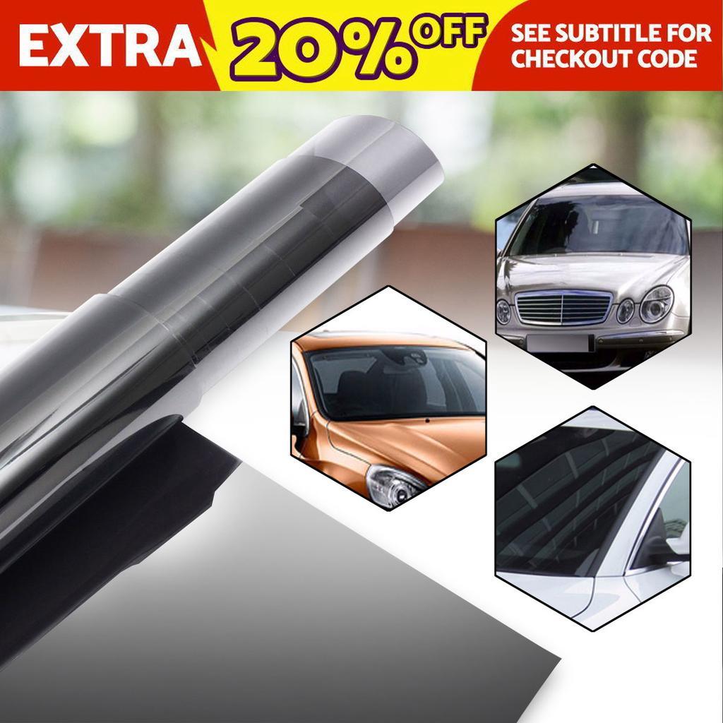 New Black Glass Window Tint Shade Film VLT 15/% Auto Car House Roll 50cm*2M