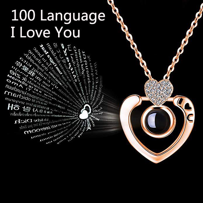 Проекция 100 языков, я тебя люблю очарование кулон ожерелье женщин любовник романтический подарок для девушки фото