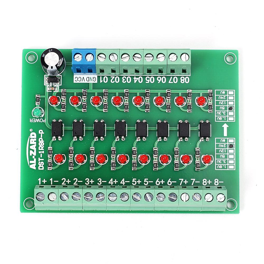 8 Channel 24V To 5V Optocoupler Isolation Module PLC Signal Level Voltage Conver