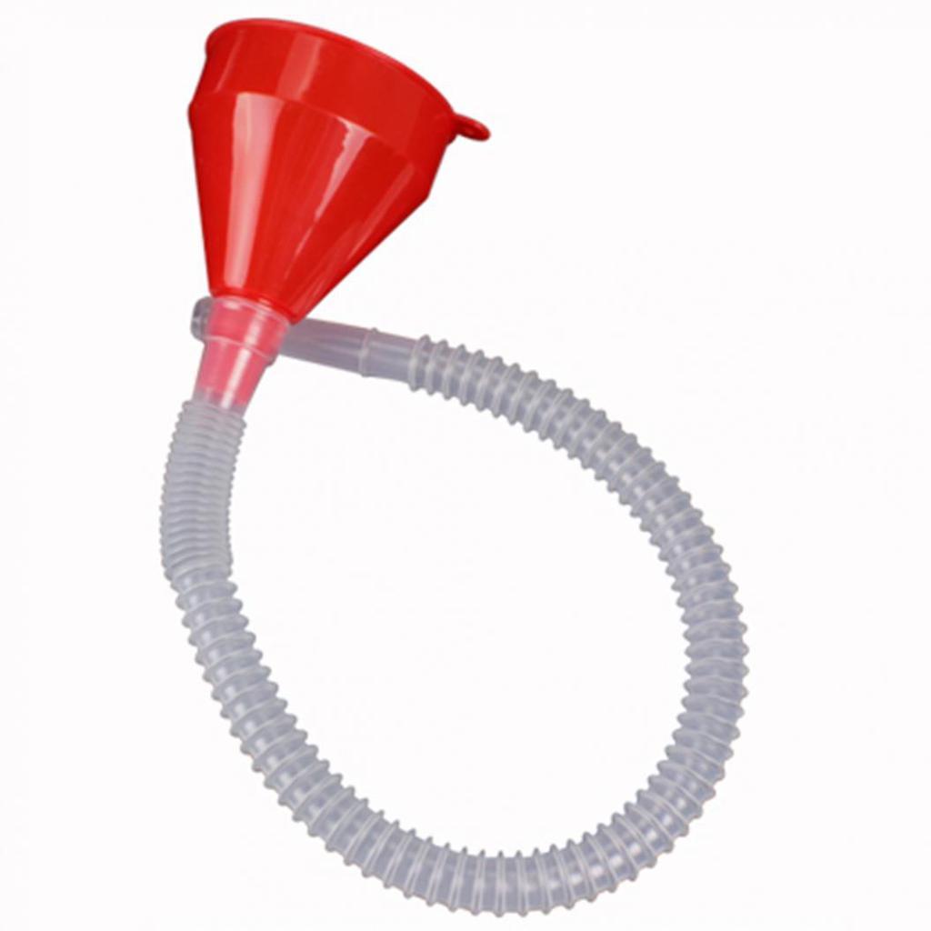2 In 1 Large Detachable Flexible Funnel Petrol Diesel Car Van Motorbike Filler
