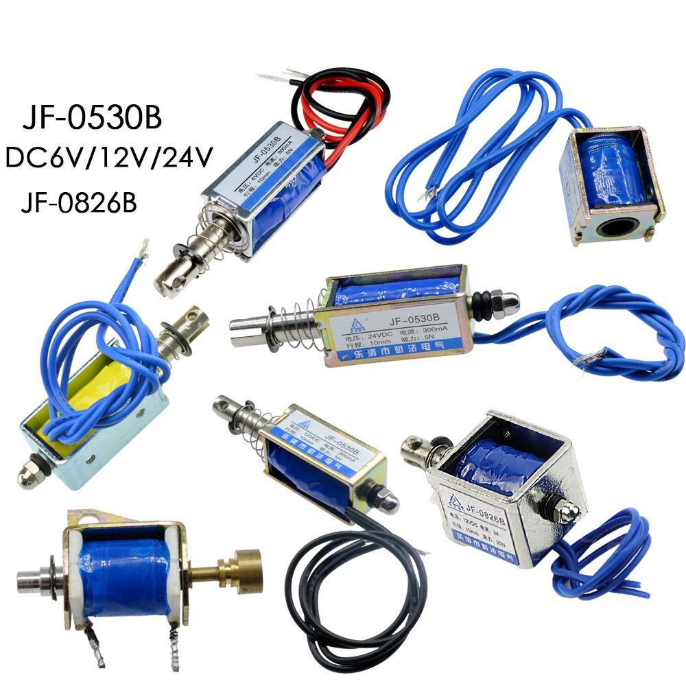 DC Electroim/án 24V Control de Automatizaci/ón 6//12//24V DC 300mA DC Pull Electromagnet 5N Rango Retr/áctil 10mm