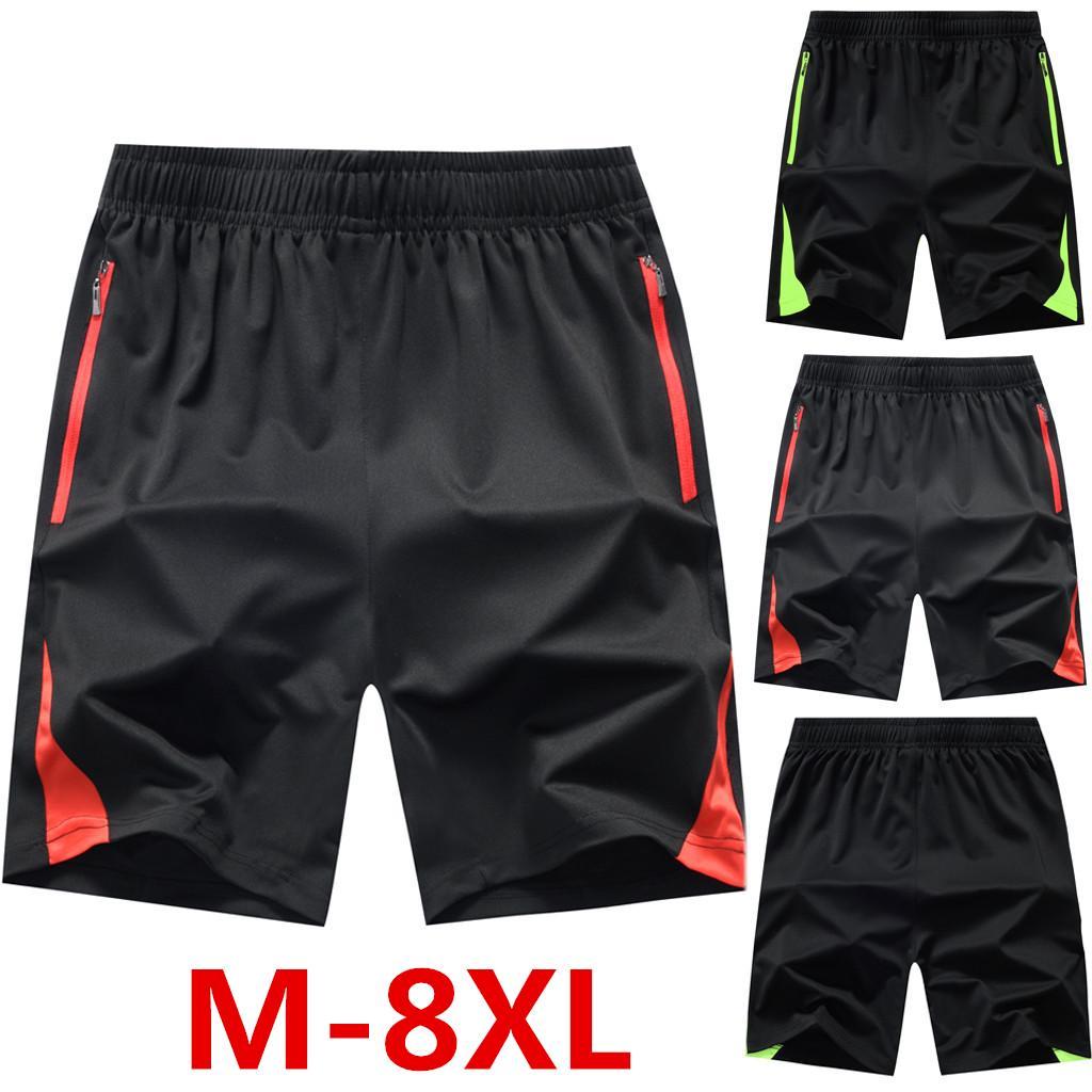 Мужские летние тонкие быстросохнущие пляжные брюки больших размеров повседневные спортивные короткие брюки – купить по низким ценам в интернет-магазине Joom
