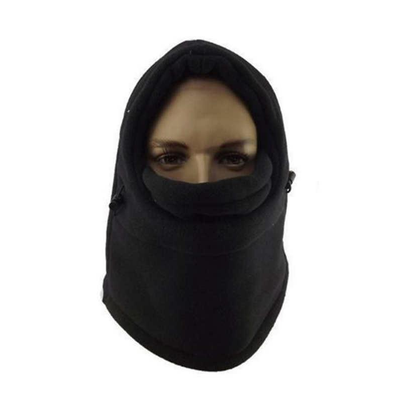 cda0ea20838 6 in 1 Thermal Warm Fleece Balaclava Hood Ski Bike Windstopper Full ...