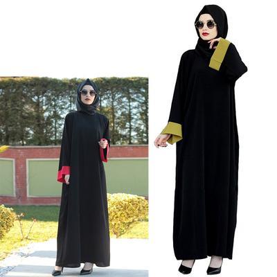 03fa4d7281b083e Случайные мусульманских макси платье шифоновое Абая свободный стиль Рамадан  Арабский турецких длинные одеяние молитвы одежда