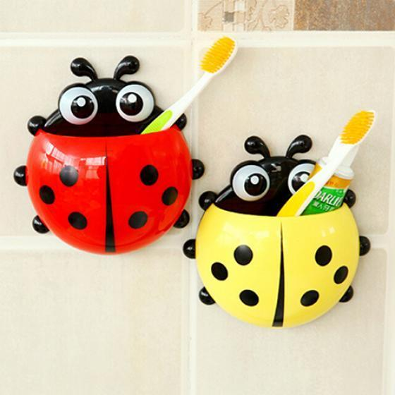 Buy Ladybug Toothbrush Holder Suction Ladybird Toothpaste Wall Sucker Bathroom Sets At Affordable Prices Free Shipping Real Reviews With Photos Joom