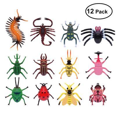 24Pcs Colorful Plastic Vivid Bugs Insect Model Animals Kids Bag Filler Toys