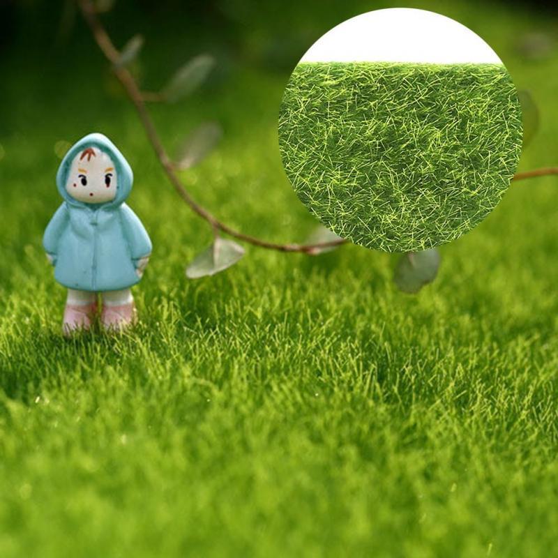 1//5pcs Garden Miniature Ornament Artificial Moss Grass Plant Pots Fairy Decor