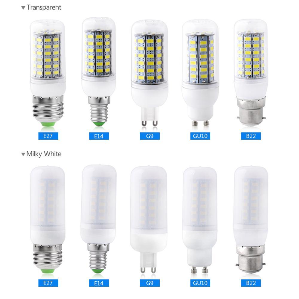 High Bright 5730 SMD E27 B22 G9 G10 E14 LED Corn Lamp Light
