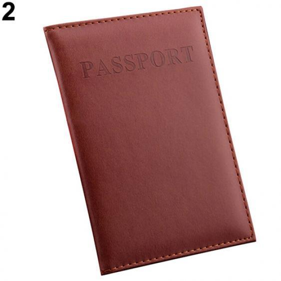 Journey Travel Passport Holder Protector Cover Wallet PU Leather Fashion