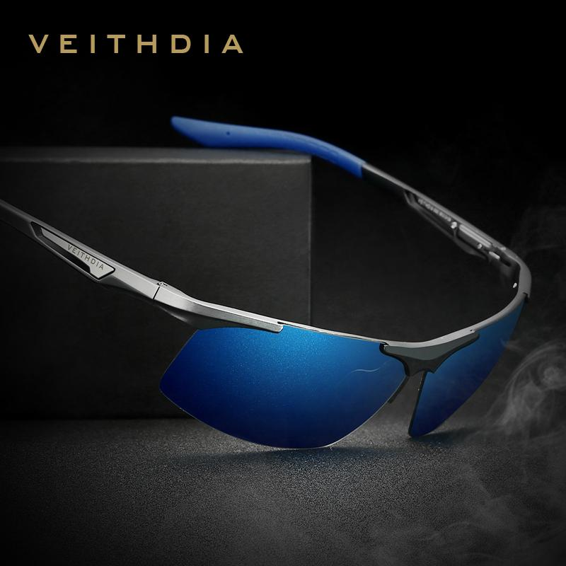 VEITHDIA Aluminum Magnesium Men/'s Polarized Sun glasses Night Vision Mirror Male