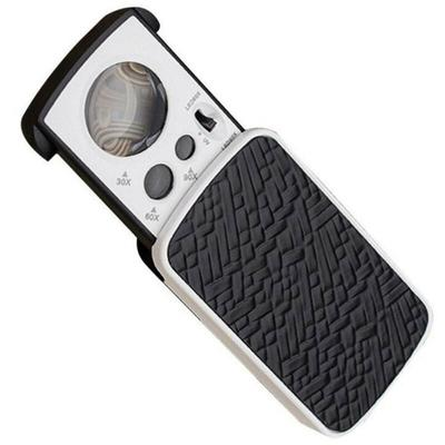 Hot ! 30X 60X 90X, Pockets Magnifying Magnifier, Jeweler Eye Glass, Loupe Loop with LED Light, 8.5*4.5*2CM