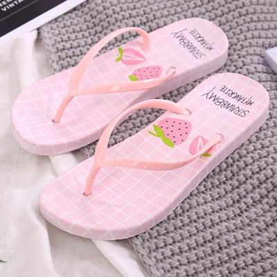 Unisex Summer Beach Slippers Yellow Cats Flip-Flop Flat Home Thong Sandal Shoes