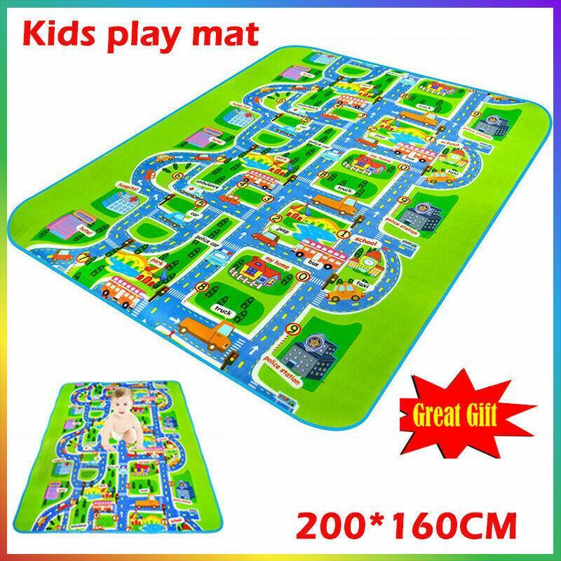 Гигантские дети Город Playmat Fun Автомобили Играть Road Carpet Rug пены Baby Toy Mat 3mm