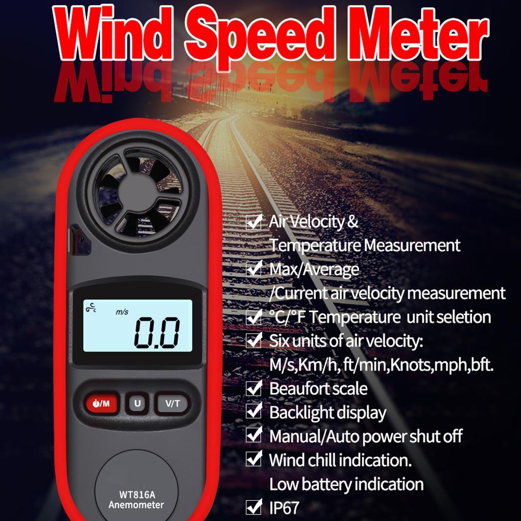 Wind Speed Gauges Patio, Lawn & Garden Portable Anemometer Water ...