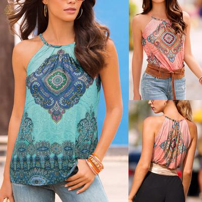 67cd37c6ae2 Hellotocome-Women Summer Beach Vest Top Sleeveless Blouse Casual Tank Loose  Tops T-Shirt