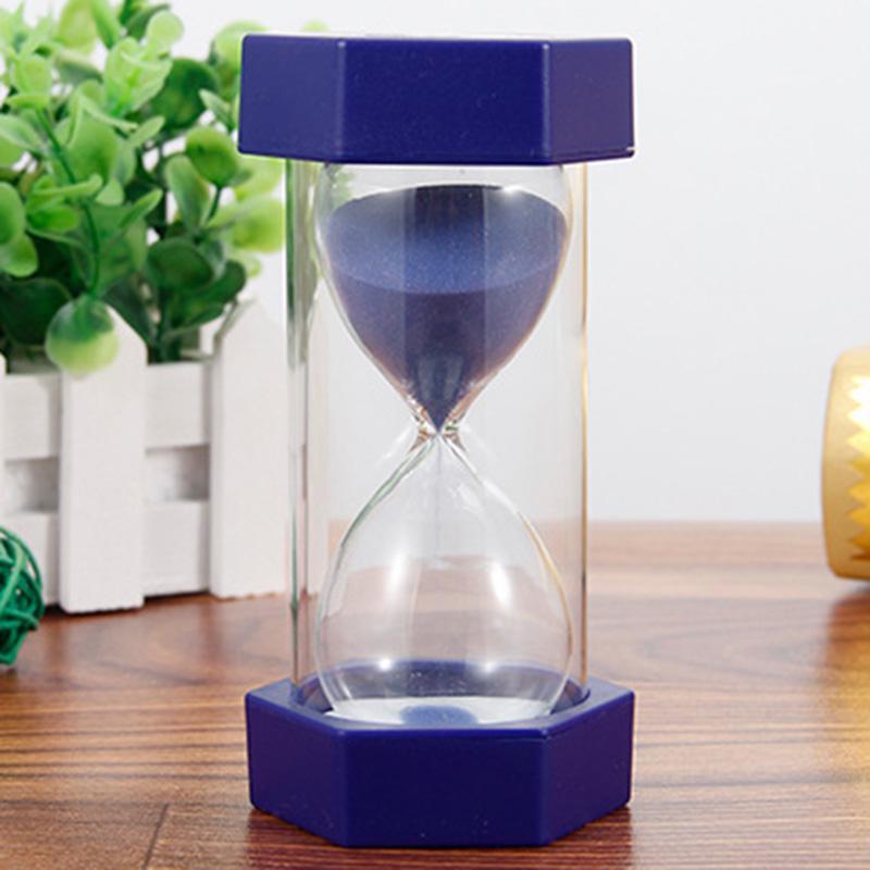 6Pcs 30s//1//2//3//5//10min hourglass sandglass sand clock kids toys kitchen timer FM