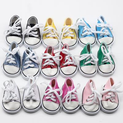 4pcs Canvas Sneakers Shoes Flats FOR 18 inch AG American Doll Doll Clothes