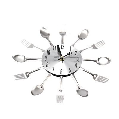 Modern Large Cutlery Wall Clock Fork & Spoon Kitchen Home Decoration Gift