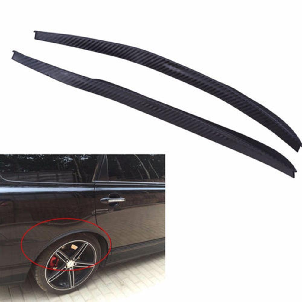 2x Universal Car Flexible Fender Flares Durable Over Fenders Wheel Arches Black