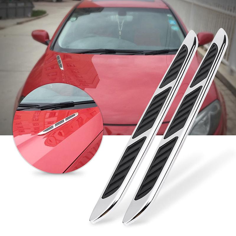 Schutz Auto Aufkleber Luft Fender Dekor für Dekorationen Blacks 2pcs