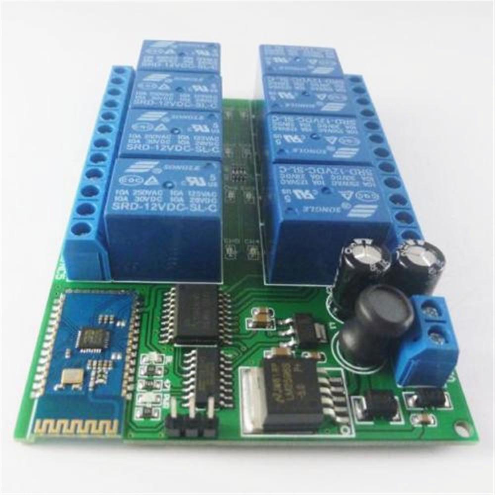 8-CH Bluetooth Receiver Relay Board Module Smart Remote Control Switch DC 12V