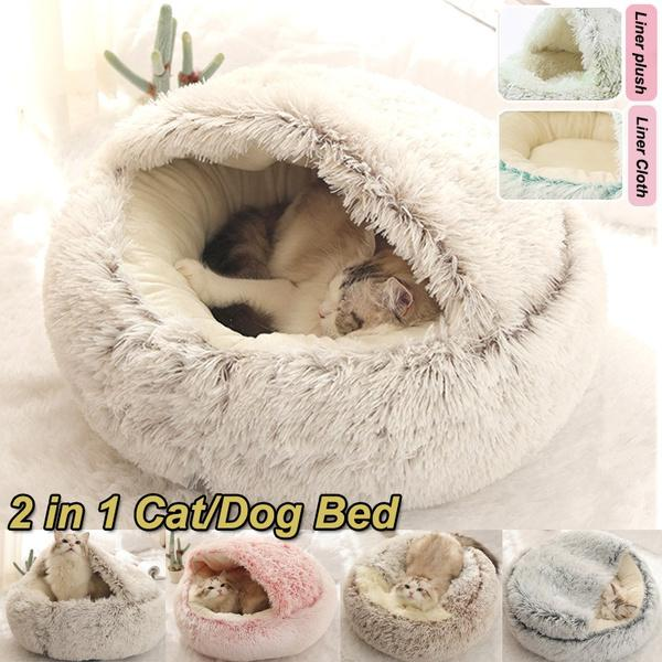 Round Cat Bed Dog Bed Pet Gifts Cat House Pet Nest Baby Cradle Pet House Cat Lover Gift Cat Perch Plush Bed Cat Baby Cat Cradle