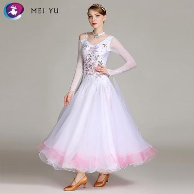 Ladies Chic Modern Waltz Tango Smooth Latin Ballroom Competition Dance Dress