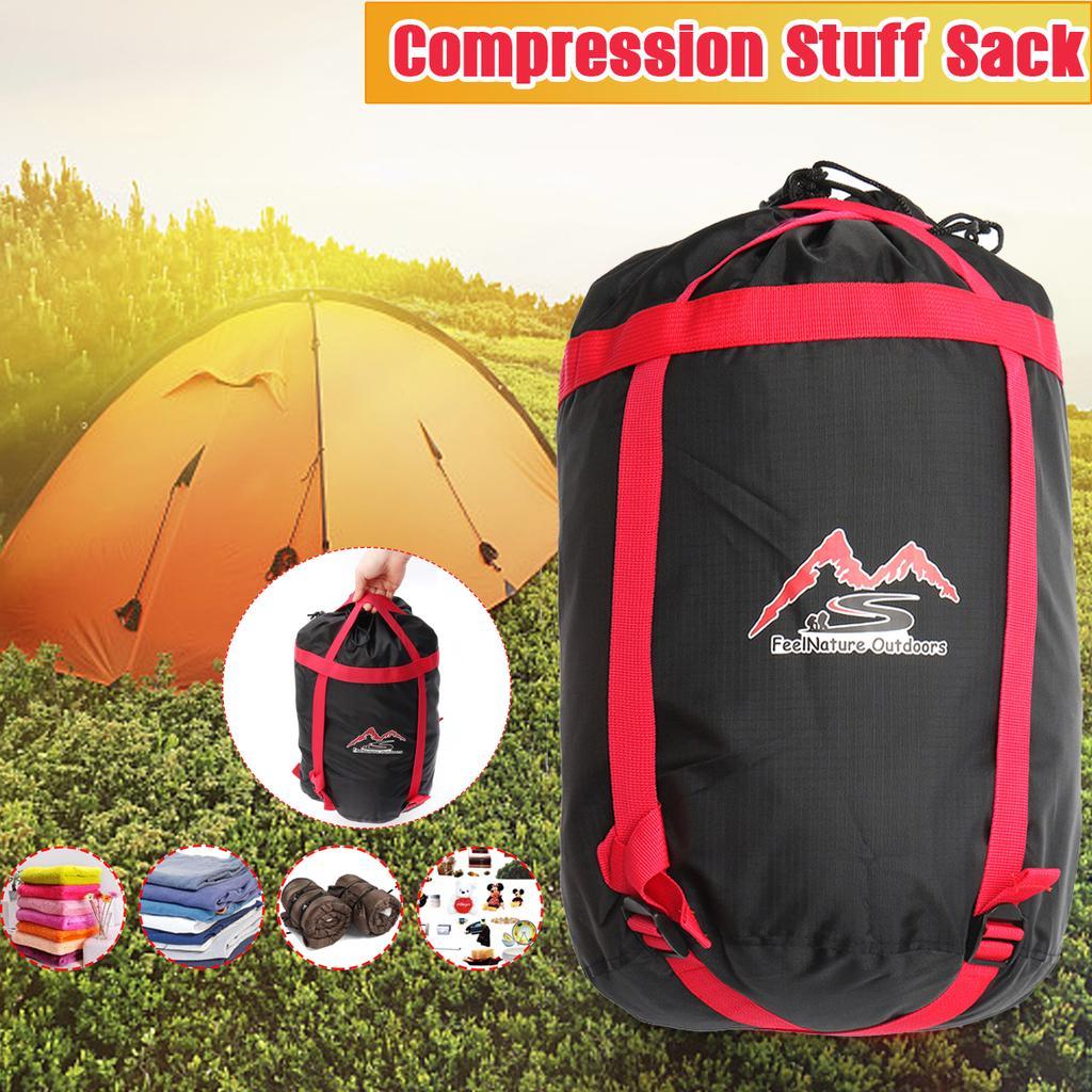 2pcs Camping Ultra-light Drawstring Stuff Sack Sleeping Pad Mat Storage Bag