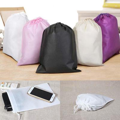 Floral And Decorative Background Design Drawstring Portable Storage Shoe Outdoor Travel Bag Dustproof Gift Bags