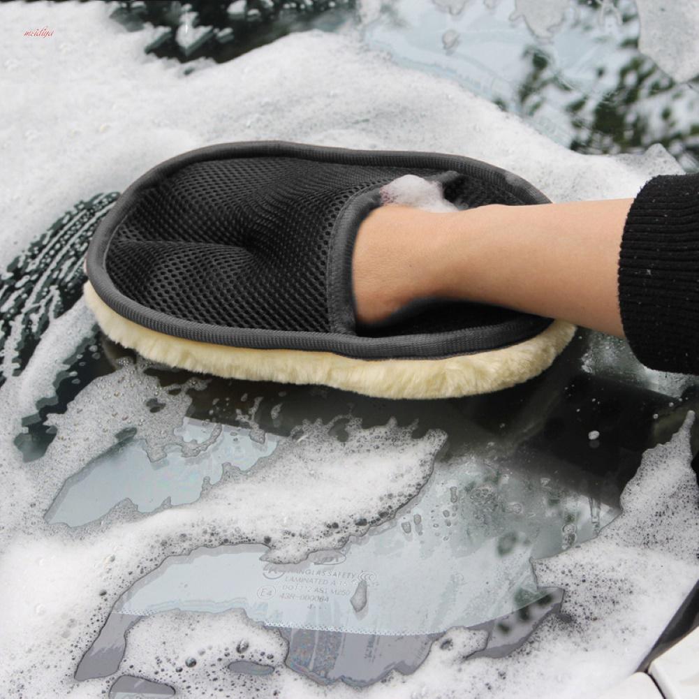 MDY Искусственная шерсть автомобиль Стиральная перчатка Восковая польский инструмент – купить по низким ценам в интернет-магазине Joom