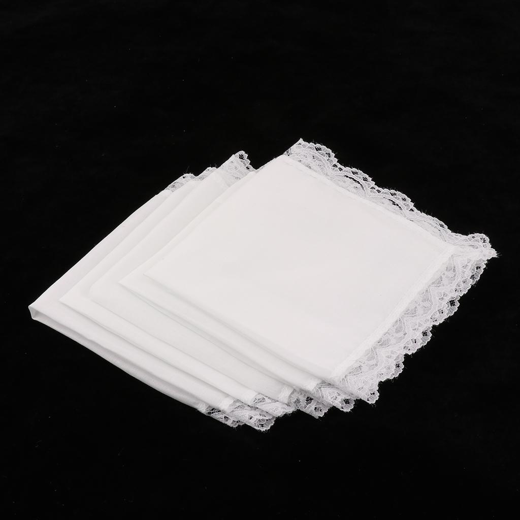 20Pack Cotton White Handkerchiefs Hanky Pocket Square for Men Women 23x25cm