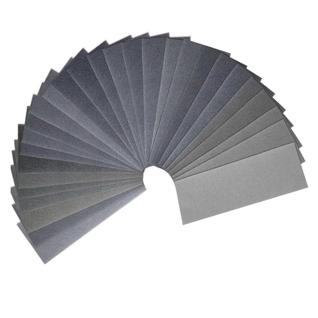 10pcs 5000 Grains Assortment of dry and wet waterproof sandpaper 3.6 mm x 9 inch abrasive paper sheets for wood furniture Metal Polished automotive Blue