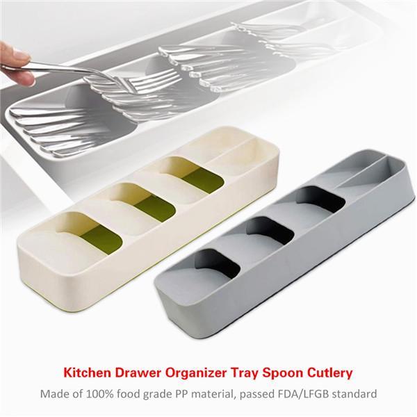 Кухня Drawer Организатор Tray Spoon столовые приборы Отделотка Хранение Хранения Box столовые приборы Организатор фото