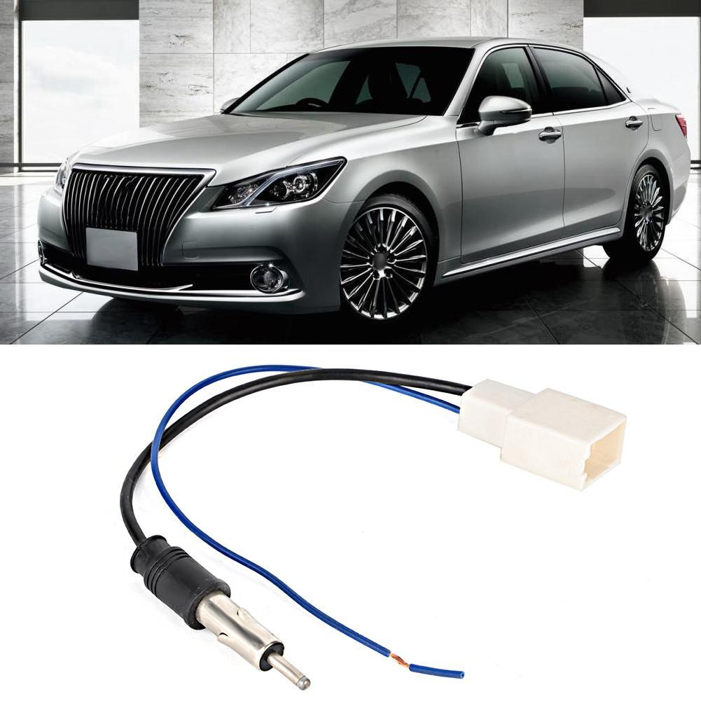 ABS Car CD Radio Antenna Adapter Female Cable with Amplifier Fit for Toyota  Crown