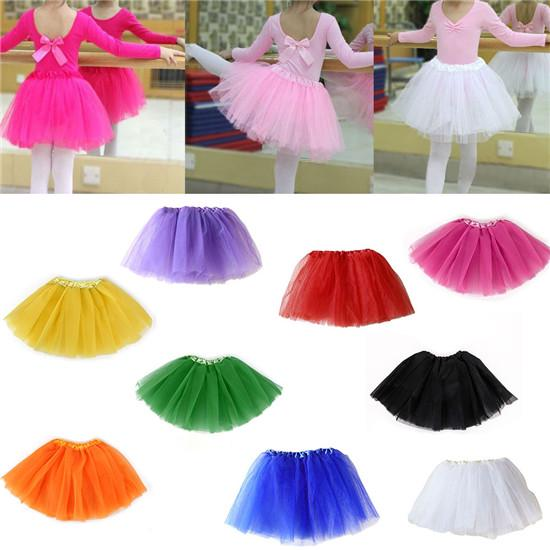 Baby Kid Girl Princess Star Sequin Party Dance Ballet Tutu Lace Mini Skirt 2-7 Y