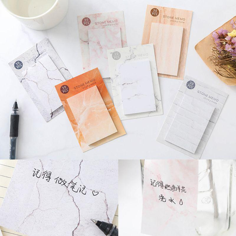 6Pcs//Bag Portable Sticky Notes Memo Notepad School Office Writing Stationery e