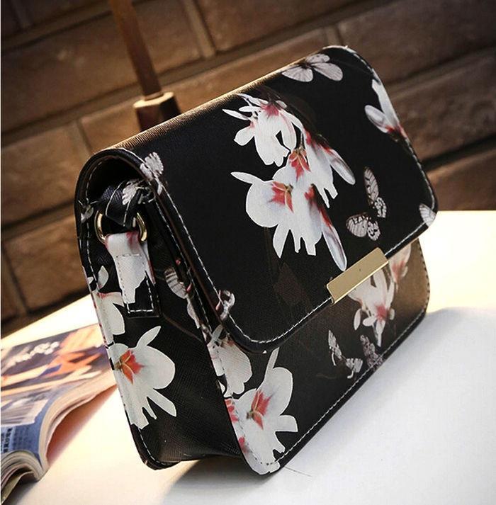 Женщин леди мода кожаный ранец сумочка плечо Messenger через плечо сумка (черный) – купить по низким ценам в интернет-магазине Joom