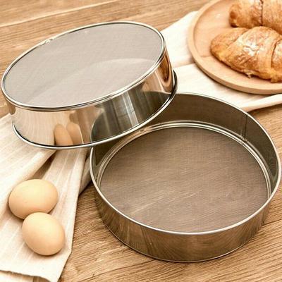 Plastic Handle Flour Sieve Kitchen Fine Mesh Oil Strainer Sifter Sugar Filter