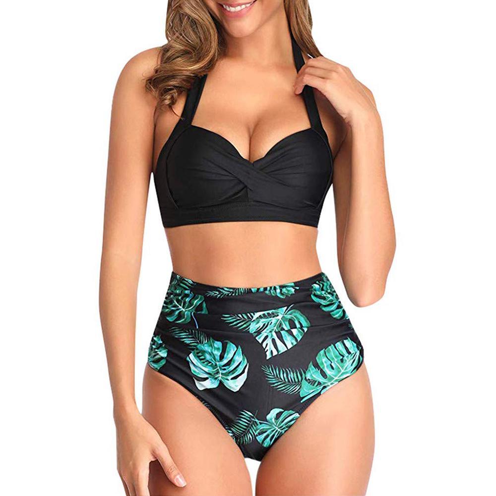 Womens Two Piece Polka Dot Tankini Set Swimwear Swimsuit Size UK 10 12 14 16 18