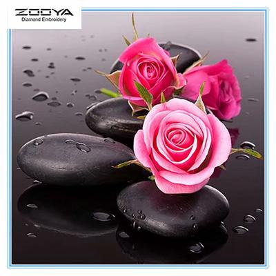 Diamond Painting Cross Stitch Dripping 5D DIY Roses Embroidery Canvas Paintings