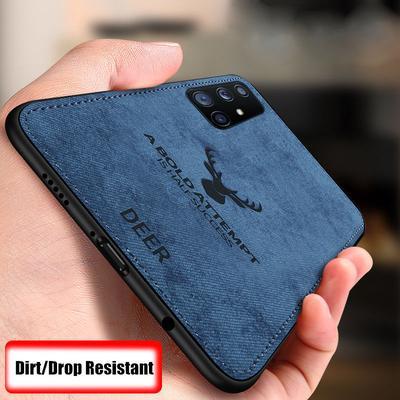 For iPhone 12 11 Pro /Samsung S21 Ultra S20 FE A21S A31 A51 A71 /Redmi 9A Note 9 Pro /Huawei Mate 40 Case ELK Hybrid Soft TPU Leather Matte Back Cover