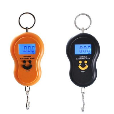 Portable 50kg/5g LCD Digital Fish Hanging Luggage Weight Hook Scale
