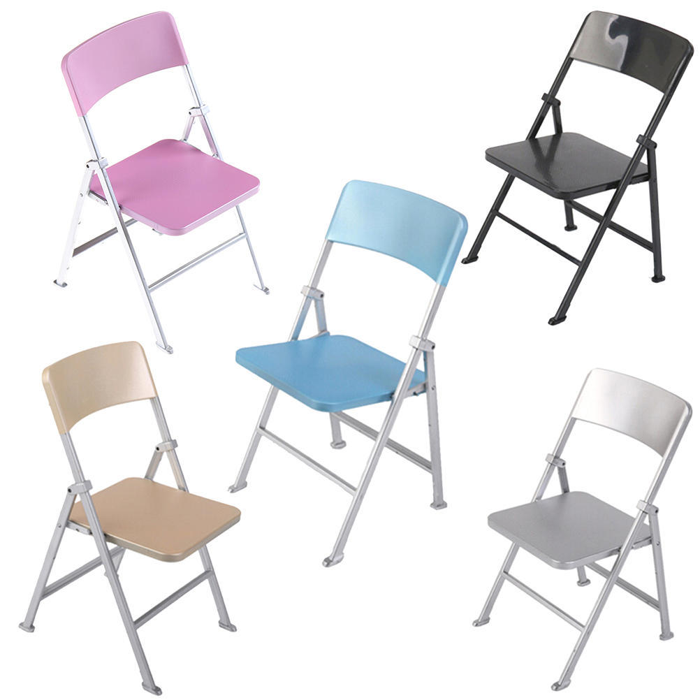 1//6 Scale Min Dollhouse Furniture Folding Chair Toy for Dolls Kid toy gift TO