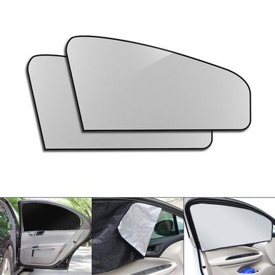 2PCS 50*39cm Black Mesh Style Valances Anti-UV Sunshade Visor Car Window Curtain