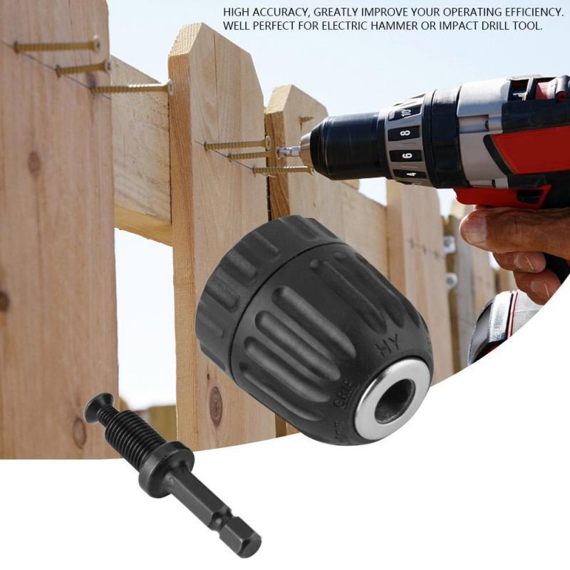 0.8-10mm Self-tightening Drill Bits Chuck Screwdriver Impact Driver Adapter Tool